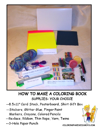 How To Make A Coloring Book Make Your Own Coloring Books