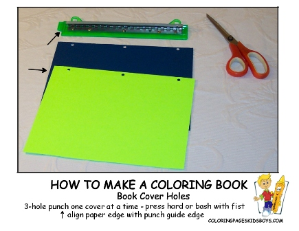 02-Book Cover Holes- How to Make a Coloring Book at YesColoring