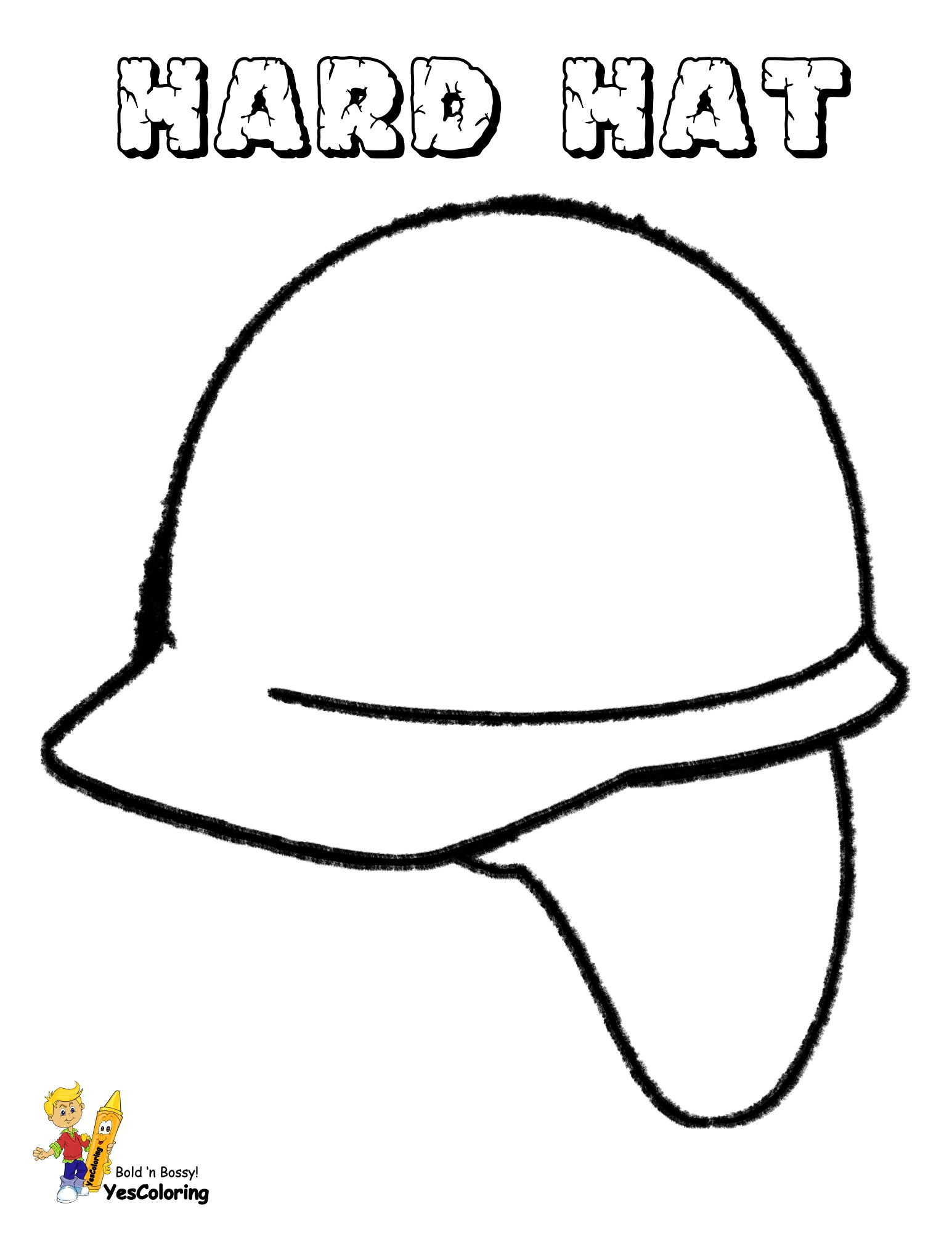Coloring Picture Construction Hard Hat at YesColoring