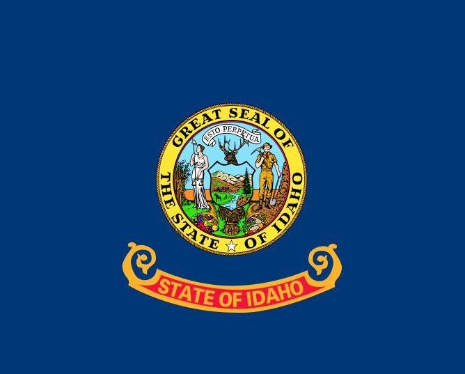Gallant State Flags Coloring  IdahoMontana  Free  Flags