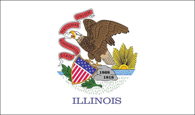Gallant State Flags Coloring Idaho Montana Free Illinois State Flag Coloring Page