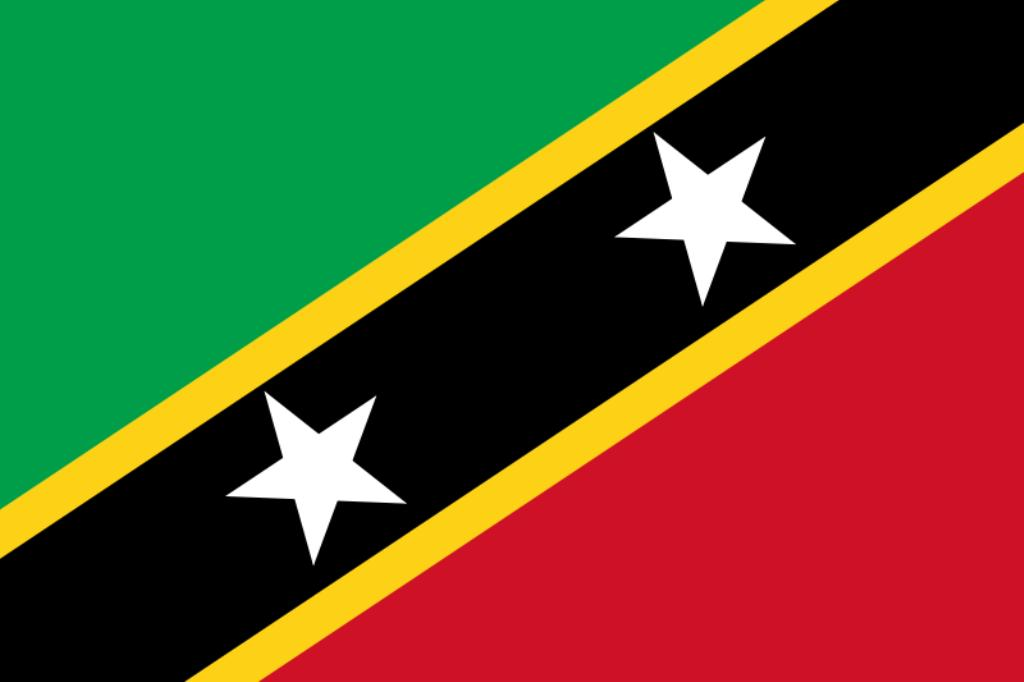 Grand Flag Coloring Pictures Flags Of Saint Kitts