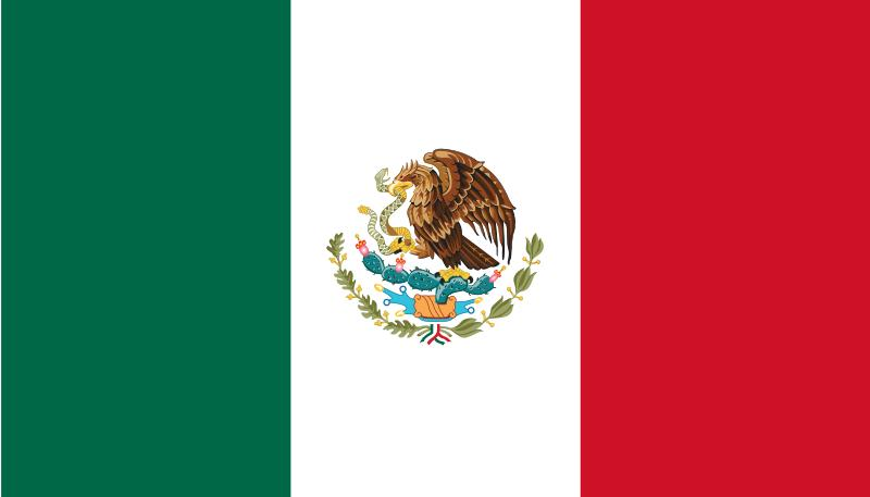 mexico flag coloring page. Mexico