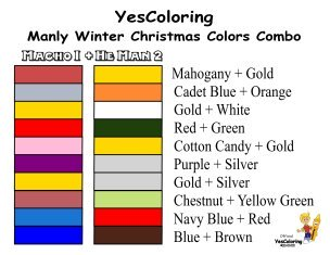 YesColoring 10 Manly Winter Christmas Colors Combo List To Print at YesColoring