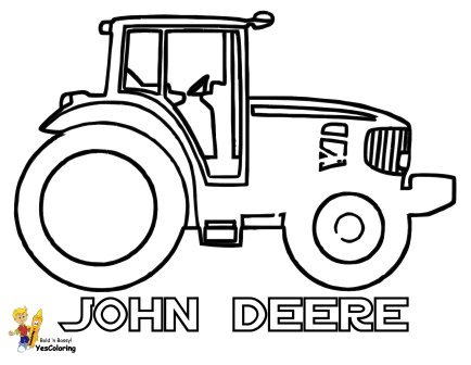 Easy John Deere Coloring For Kids at YesColoring