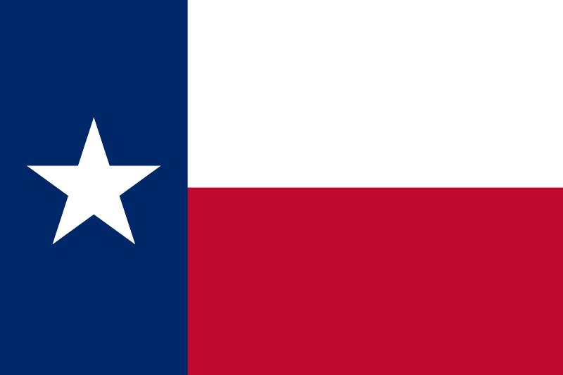 click name of state for color photograph of its flag decoration texas
