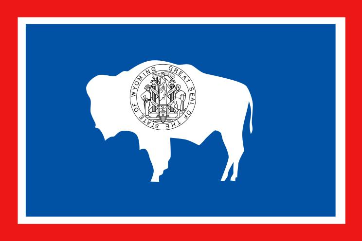 Wyoming State Flag Coloring Page
