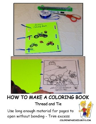 06-Thread and Tie - How to Make a Coloring Book at YesColoring