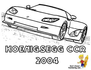 Kids Printables Koenigsegg CCR (Front View) at YesColoring